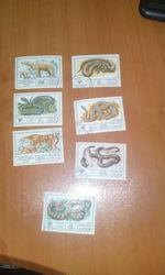 почтовые марки фауна ссср змеи и животные
